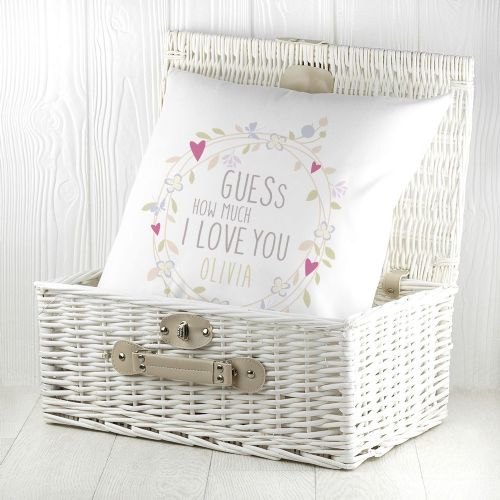 Personalised Guess How Much I Love You Round Wreath Cushion Cover
